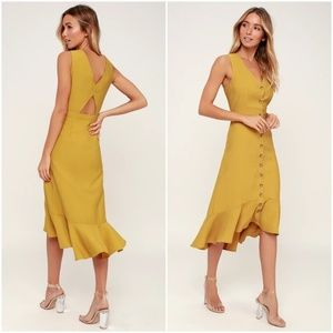 Lulus When We First Met Button Front Midi Dress